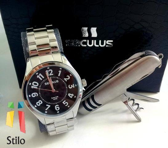 e36b0f8b93d Promoção Relógio Seculus 2 Anos Garantia - Bijouterias
