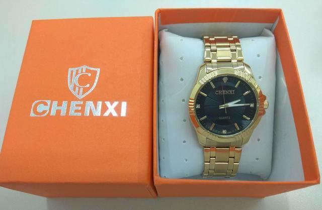 03ee1584073 Relógio Chenxi Gold Luxo A Prova D água + Caixa Luxo - Bijouterias ...