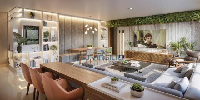Apartamento com 3 dormitórios à venda, 119 m² por r$ 565.250 - setor bueno - goiânia/go