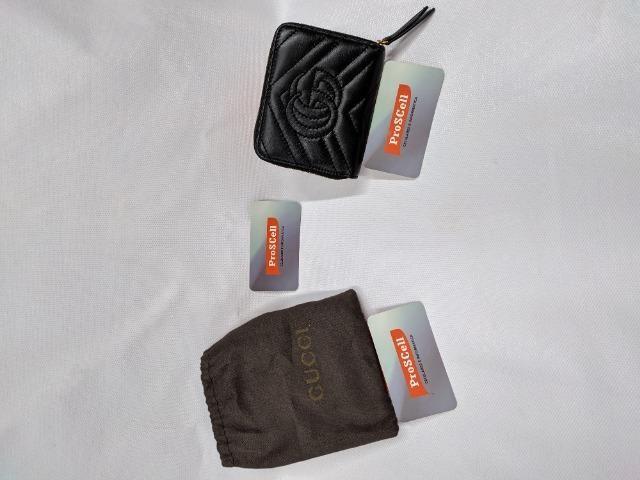 Carteira Gucci Preta - GG Marmont Matelasse wallet - Foto 3