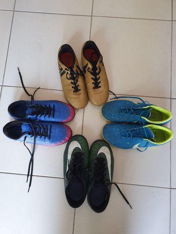 4 Chuteiras nike e adidas - Foto 2