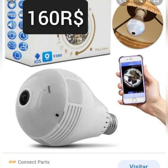 Promoção câmera lampada