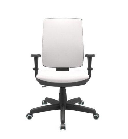 Cadeira Presidente Branca Giratória nova Plax