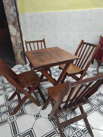 Mesa madeira c/4cadeiras