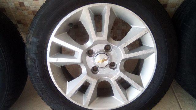 Jogo de roda 15 pneu 185 60 15  - Foto 3