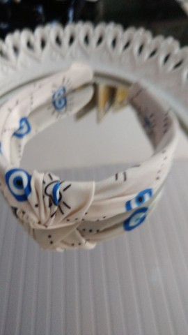 Tiara turbante olho grego atacado