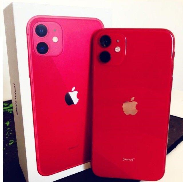 iPhone 11 Red 128gb em ótimo estado, saude da bateria 89% - Foto 2