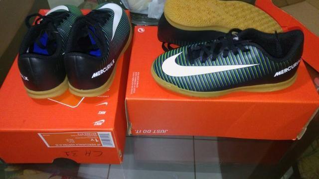 Chuteira Futsal Nike infantil -tamanhos 31 8c1a7c87bfb56