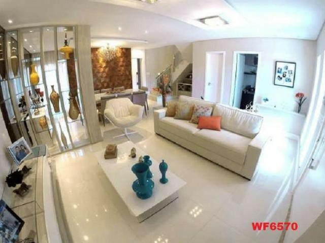 Casa duplex, 3 suítes, 5 vagas, projetada, mobiliada, casa nova, lago Jacarey - Foto 3