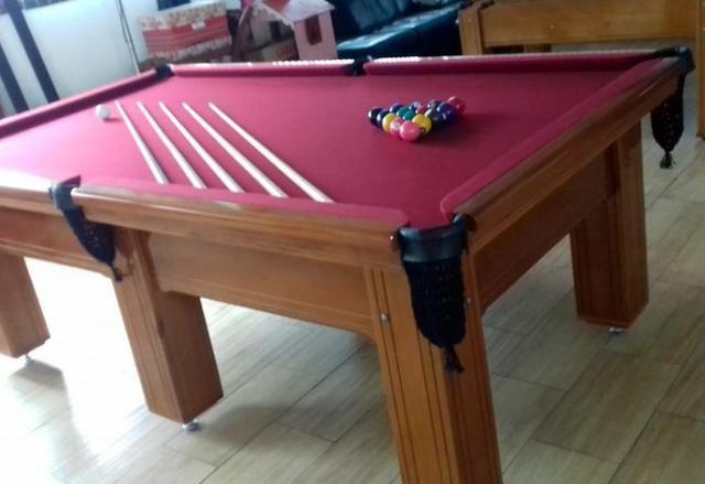 Mesa de Snooker Pró Oficia 2,42 x 1,42 Madeira Maciça