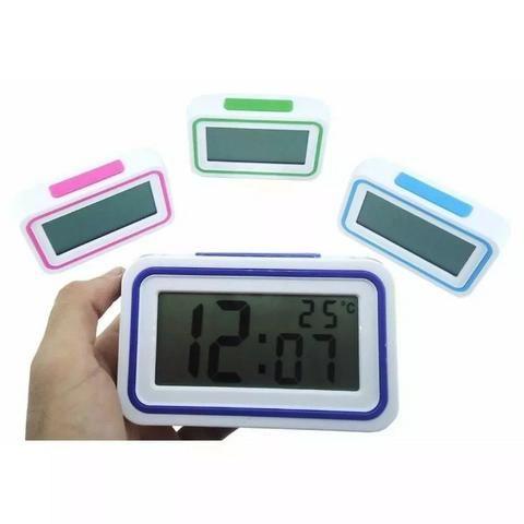 aaef23d1f75 Relógio Digital Despertador De Mesa Fala A Hora Em Voz - Áudio