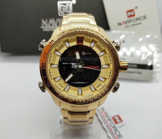 ac0689f573b Relógio Masculino De Luxo Naviforce Original Pronta Entrega ...
