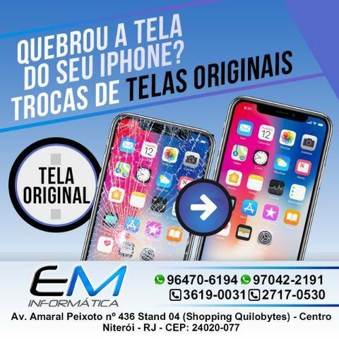 Troca de Tela Original de Iphone no Centro de Niterói / Loja Em Informática