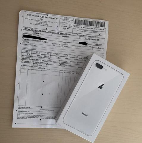 12ebb948ccf IPhone 8 Plus 256gb silver NOVO LACRADO COM NOTA FISCAL