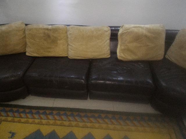 Sofá de Couro Original SEIS lugares - Foto 5
