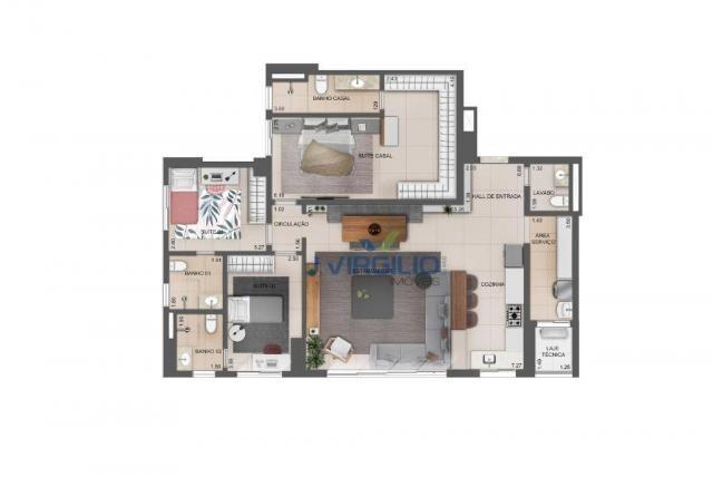 Apartamento com 3 dormitórios à venda, 119 m² por r$ 565.250 - setor bueno - goiânia/go - Foto 3