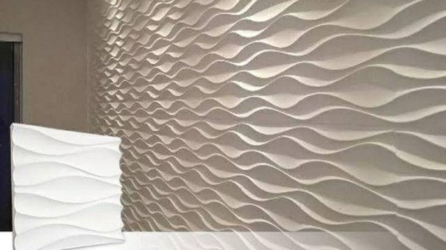 Placas de gesso 3D alto relevo para revestimento de parede  - Foto 3