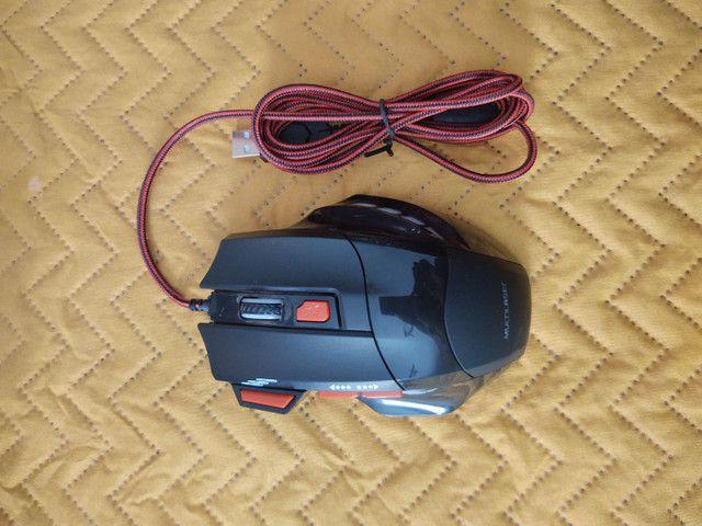 Mouse gamer com leds e DPI 2400 - Foto 4