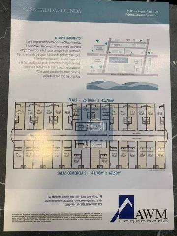 Sala para alugar, 42 m² por R$ 2.400,00/mês - Casa Caiada - Olinda/PE - Foto 3