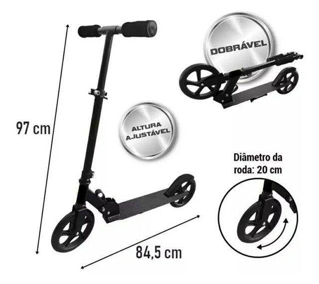 Patinete/scooter adulto usado duas vezes - Foto 2
