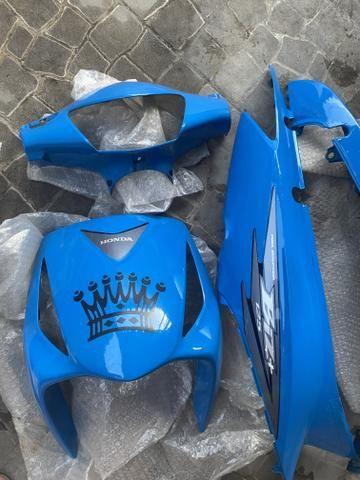 Carenagem biz+125 azul personalizada original 2006 à 2010 - Foto 5