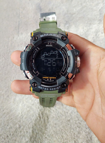 Relógio Smael Sport Militar Verde - Foto 2