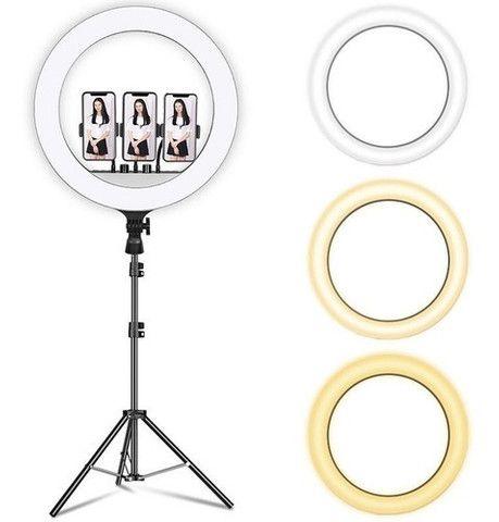 Ring Light 18 polegadas Profissional + Tripé + Controle - Foto 3