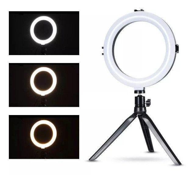 """Ring Light 10"""" de mesa portátil usb - Foto 3"""