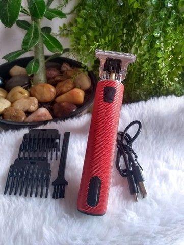 Máquina elétrica usb profissional para corte de Barba/Cabelo/Bigode - Foto 4