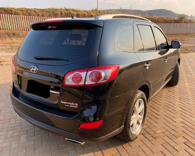 Hyundai Santa Fe 2011 3.5 v6 4x4 automático - 7 lugares- Teto solar- 285cv - Foto 4