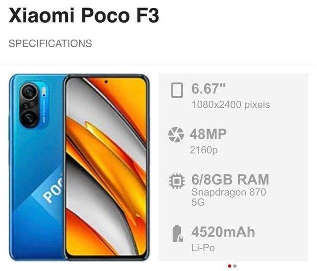 POCO F3 6/128GB - Foto 3