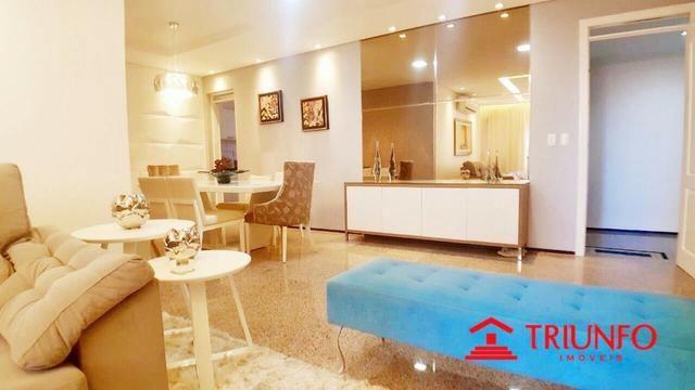 (HN) Apartamento de 137m² no Papicu - Todo Projetado - Ventilado - 3 quartos - Dce -2 vgs - Foto 2