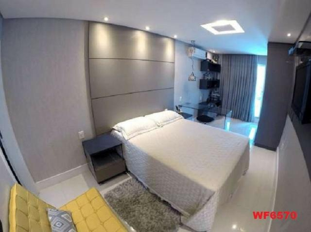 Casa duplex, 3 suítes, 5 vagas, projetada, mobiliada, casa nova, lago Jacarey - Foto 13