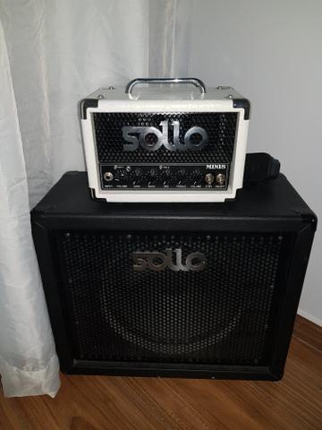 Amplificador Sollo Mini8 Valvulado + Gabinete 1 x 12