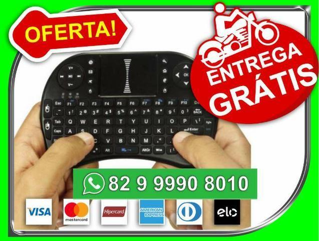 Teclado Sem Fio Com Touchpad Mouse Ideal Para Smart Tv Pc Notebook - Preto