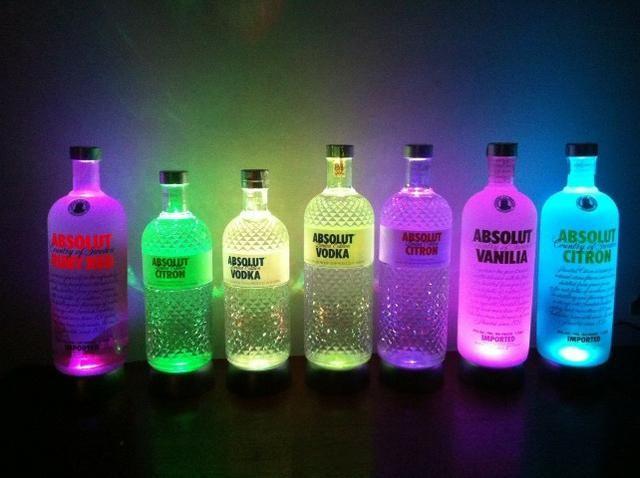 Bases Led Colorida P/garrafas Copos Vasos Cristais