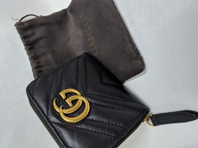 Carteira Gucci Preta - GG Marmont Matelasse wallet