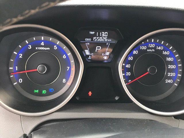 Hyundai elantra gls 2012 preto teto solar - Foto 4