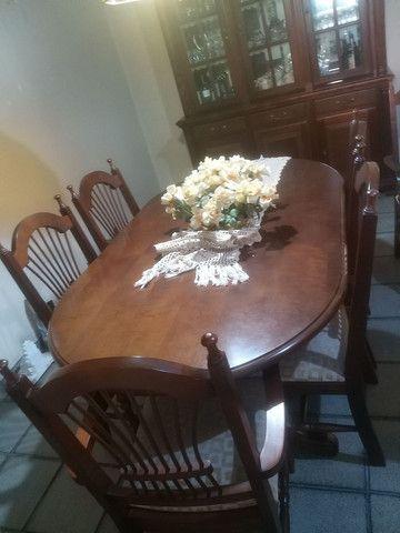 Mesa de jantar 6 lugares semi nova - Foto 2