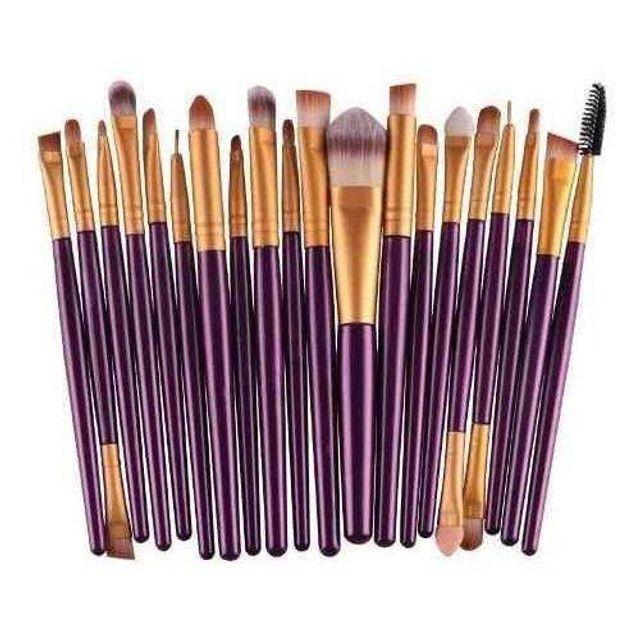 Pincel Para Maquiagem Kit Com 20 und - Foto 2