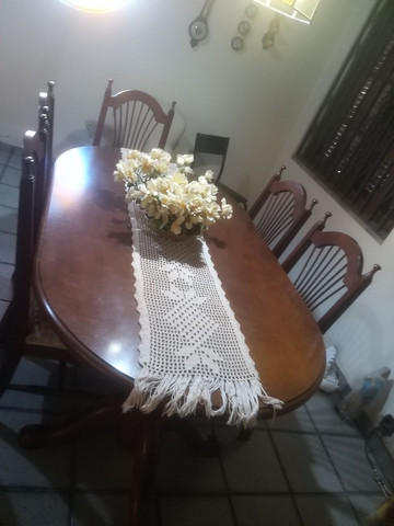 Mesa de jantar 6 lugares semi nova - Foto 3