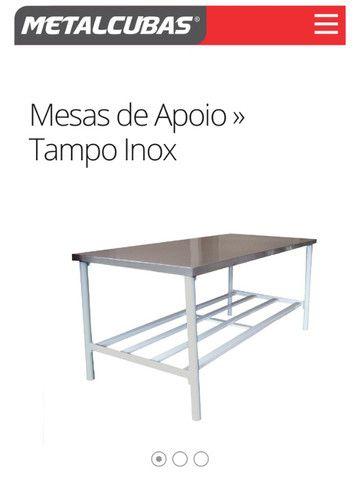 Mesas para Panificação inox / toda inox ou mista - a partir de r$ 859,00 - Foto 2