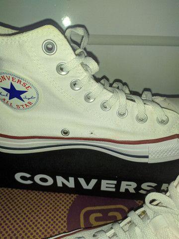 Converse All Star Chuck Taylor cano alto branco - Foto 3
