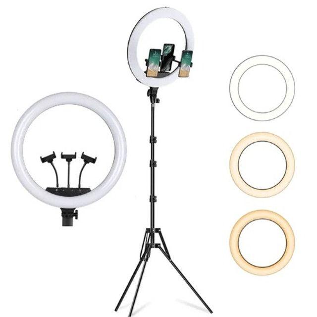 Ring Light 18 polegadas Profissional + Tripé + Controle - Foto 2