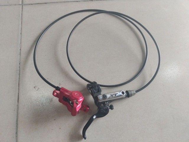 Manete de freio Shimano XT hidráulico