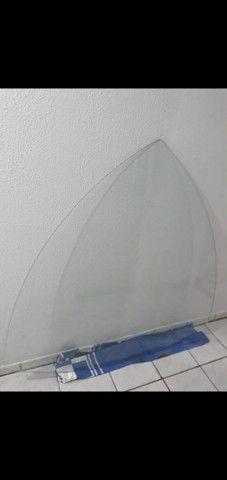 Tampo de vidro para mesa triangular