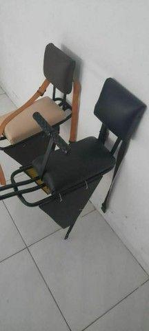 Cadeirinha para bicicleta com guidão e bagageiro  - Foto 3