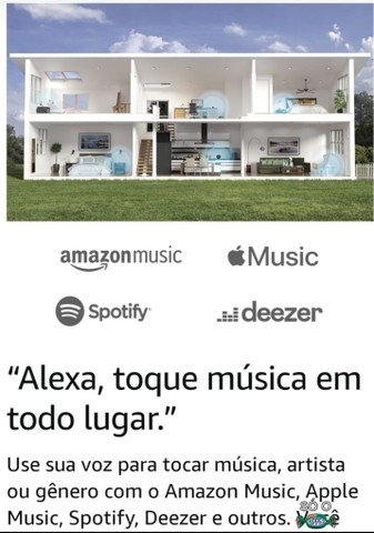 """Alexa Echo Dot 4ª Ger.<br>""""Twilight Azul"""" Produto Original. 3x S/Juros.<br>A Vista 10% - Foto 4"""