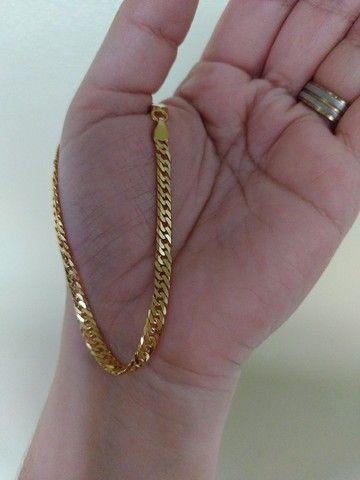 Pulseira com 20 cm em Prata Italiana 925  - Foto 2