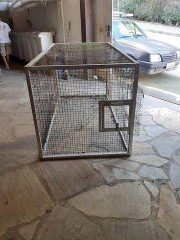 Gaiola/Viveiro galvanizada, acabamento alumínio, tenho várias  - Foto 5